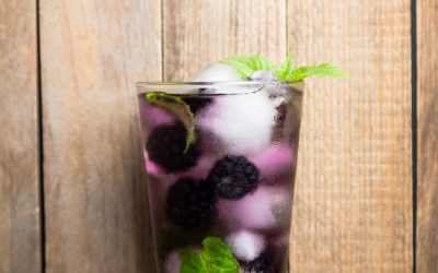 Coconut Water Mojito with Blackberries