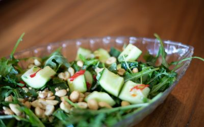 Cucumber and Peanut Salad with a Sweet and Tangy Dressing