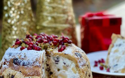 Panettone with Pear & Cherry Ricotta Filling