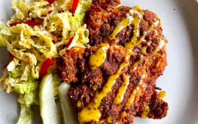 Pretzel and Asiago Crusted Chicken